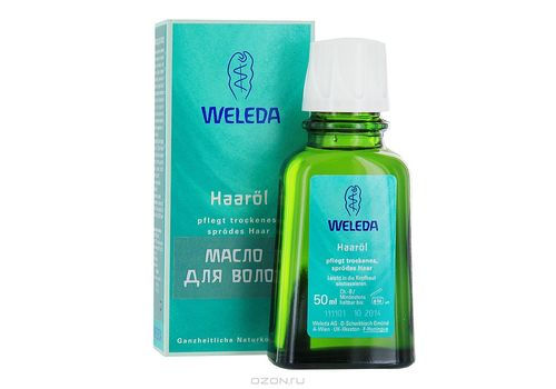 Масло для волос восстановление секущихся кончиков и уход за кожей головы, Weleda  50 мл, фото