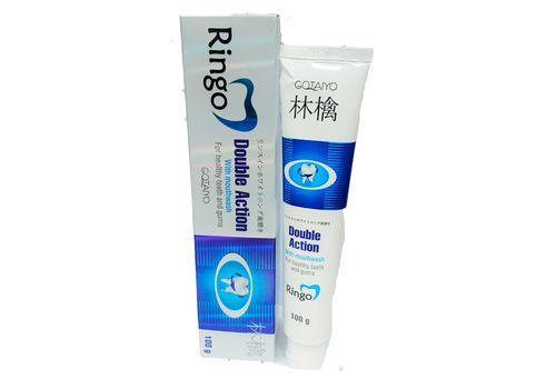 Паста зубная отбеливающая c ополаскивателем Double Action, Ringo  100 г (Китай для Японии), фото