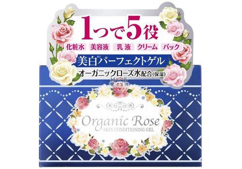 Увлажняющий гель для лица с осветляющим эффектом Organic Rose (экстракт дамасской розы и плаценты), Meishoku 90 г, фото