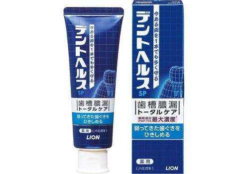 Зубная паста для профилактики опущения, кровоточивости десен и неприятного запаха изо рта Dent Health SP, Lion  90 г, фото