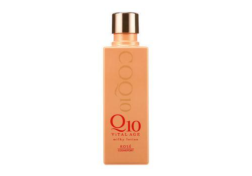 Увлажняющее молочко для лица с коэнзимом Q10 и морским коллагеном Q10 Viital Age, Kose Cosmeport  180 мл, фото