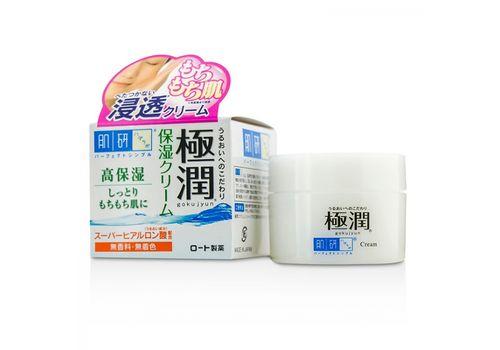 Легкий увлажняющий ночной крем с гиалуроновой кислотой Hada Labo Gokujyun Hyaluronic Cream, ROHTO  50 г, фото