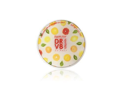 Компактная пудра с витаминами DR-V8 Vitamin UV Pack SPF50/PA+++, тон 13 Light Beige (светлый беж), Farmstay  12 г х 2 (с запаской), фото