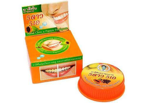 Зубная паста с экстрактом папайи ISME Rasyan, 5 Star Cosmetic  25 г, фото