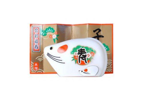 Сувенирное туалетное мыло, символом 2020 года  Белая мышка, фото