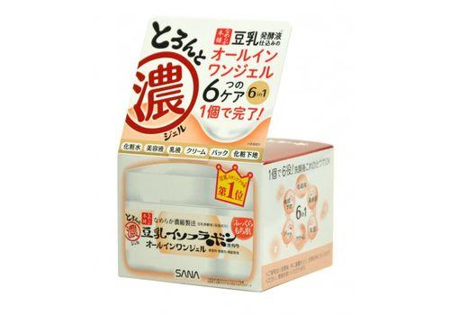 Увлажняющий крем-гель с изофлавонами сои 6 в 1 SOY MILK, Sana 100 мл, фото