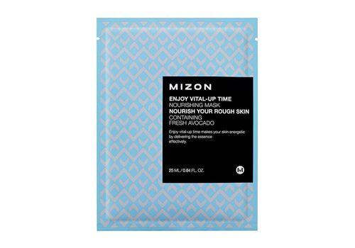 Питательная тканевая маска для кожи лица Enjoy Vital Up Time Nourishing Mask, Mizon  30 мл, фото