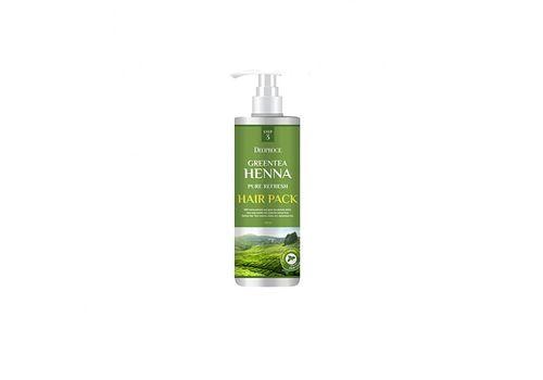 Маска для волос с зеленым чаем и хной Greentea Henna Pure Refresh Hair Pack, Deoproce Южная  1000 мл, фото
