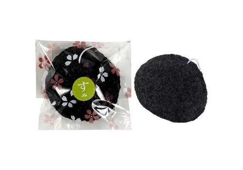 Спонж Конняку для умывания лица с пудрой из угля Убамэ, Yamamoto FARM  1 шт, фото