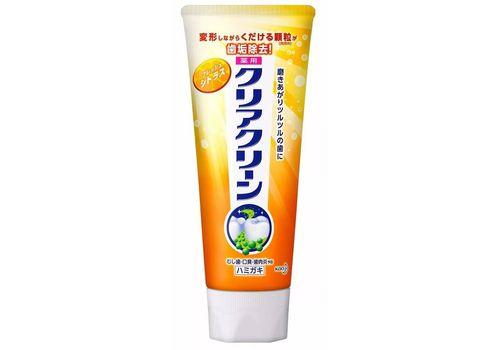 Лечебно-профилактическая зубная паста Clear Clean, с микрогранулами, цитрусовый вкус KAO 130 г, фото