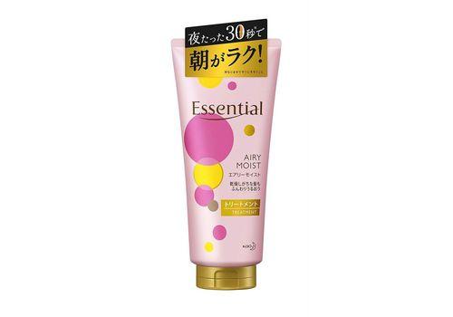 Увлажняющий и разглаживающий тритмент для ослабленных волос с ланолином, с цветочным ароматом, Essential Airy Moist Treatment, KAO 180 мл, фото