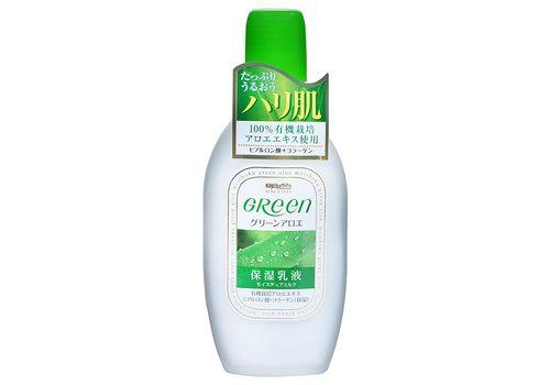 Увлажняющее молочко для ухода за сухой и нормальной кожей лица Green Plus Aloe Moisture Milk, Meishoku 170 мл, фото