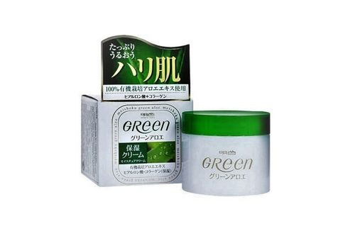 Увлажняющий крем для очень сухой кожи лица Green Plus Aloe Moisture cream, Meishoku 48 г, фото