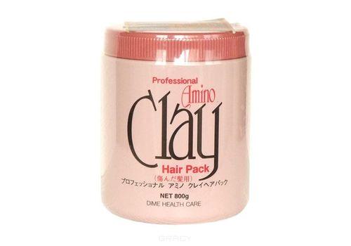 Маска для поврежденных волос Professional Amino Clay Pack, Dime 800 г, фото
