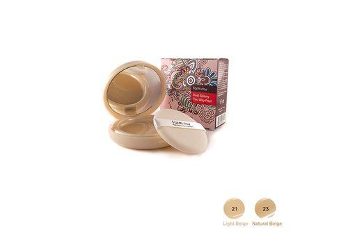 Компактная крем-пудра для лица со сменным блоком Real Skinny Two Way Pact + Refill, тон № 21 (светлый беж), Farmstay  13 г/13 г, фото